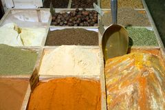 Doha spice shop Royalty Free Stock Image