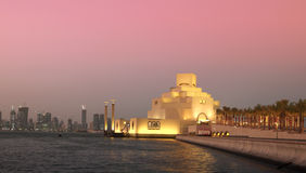 Doha sunset panorama Royalty Free Stock Photos