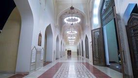 Doha timelapse van de moskee in moslimislam Allah Qatar, Midden-Oosten van nachtlichten stock video