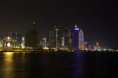 Doha towers at night Stock Photos