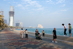 Doha towers rising Royalty Free Stock Image