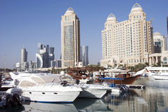 Doha un destino di festa fotografie stock libere da diritti