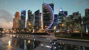 Doha västra fjärdhorisont stock video