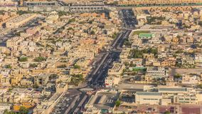 Doha view down timelapse video crossroad intersection road street Qatar, Middle East. Doha view down timelapse video crossroad intersection road street stock video footage