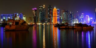 Doha West Bay skyline Stock Image