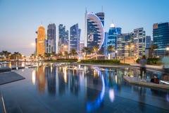Doha zachodu zatoka Obraz Royalty Free