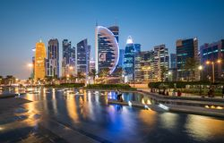 Doha zachodu zatoka Obraz Stock