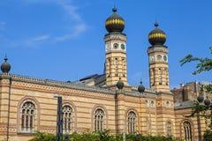 Dohany街犹太教堂在布达佩斯 免版税库存图片