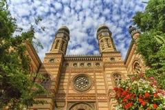 Dohany gatasynagoga, den stora synagogan eller tabakgassesynagoga, Budapest, Ungern arkivfoton