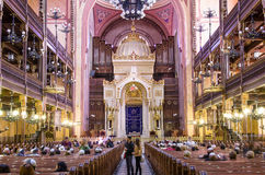 Dohany Street Synagogue (Great synagogue) interior in Budapet, H Stock Photo