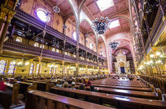 Dohany Street Synagogue (Great synagogue) interior in Budapet, H Stock Photos