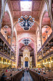 Dohany Street Synagogue (Great synagogue) interior in Budapet, H Royalty Free Stock Image
