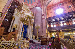 Dohany Street Synagogue (Great synagogue) interior in Budapet, H Stock Photography