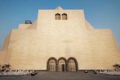 Dohastad, Qatar - Januari 02, 2018: Daglichtscène van het Museum van Islamitische Kunst, Doha, Qatar royalty-vrije stock foto's