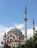 Dohlmabace Mosque Turkish Flags Stock Image