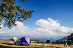 Doi Ang Khang mountain one of the famous mountains in Chiangmai, Stock Image