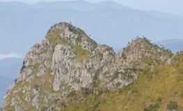 Doi Chiang Dao. View from Doi Chiang Dao mountain, Chiang mai, Thailand Royalty Free Stock Image