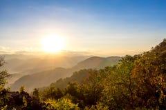 Doi Hua Mod, Umphang område, Tak landskap, Thailand Arkivbilder