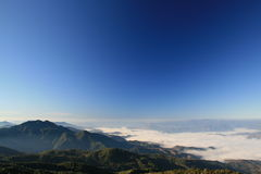 Doi inthanon. Highest mountain in Thailand Royalty Free Stock Photo