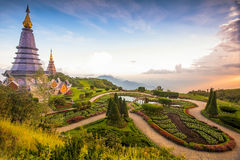 Doi Inthanon, Chiang Mai, Northern of Thailand. Most famous Tourism Location on the top of Doi Inthanon Mountain in Chiang Mai, Northern of Thailand. Built for Royalty Free Stock Image