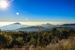 Doi Inthanon. Chiang Mai province - This obscure research station on the slopes of  has been getting a good deal of attention in the last few years since word Royalty Free Stock Image