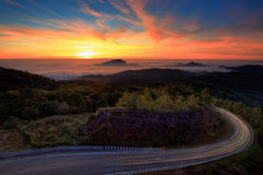 Doi Inthanon National park along the sunrise Royalty Free Stock Image