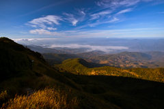 Doi Inthanon, Nature, landscape, views mountain. Chiangmai kewmaepan,landscape mountain sunset thailand blue sky grass great views wide grass green natural Royalty Free Stock Image