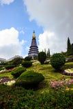 Doi Inthanon Pagoda Chiangmai Thailand. Pagoda on the top of mountain Inthanon, Chiang Mai, Thailand stock photo