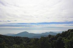 Doi Inthanon. Scenery from the highest mountain of Thailand, Doi Inthanon-Chiangmai city royalty free stock photography