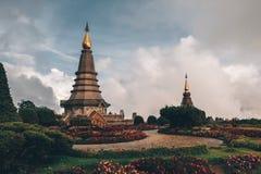 Doi Inthanon, templos de Tailandia foto de archivo