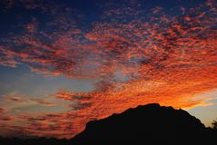 Doi Luang Chaingdao. Sky at sunset time. Sky at sunset time. Vivid and beautiful sky in twilight time. Picture with copy space Royalty Free Stock Photos
