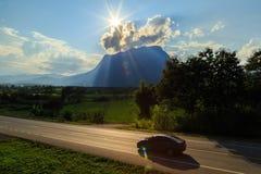 Doi Luang Chiang Dao, la terza più alta montagna in Tailandia Immagini Stock