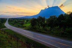 Doi Luang Chiang Dao, la terza più alta montagna in Tailandia Fotografie Stock