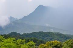 Doi Luang Chiang Dao patrzeje od Doi Mae Ta mężczyzna, Chiang Mai, Tajlandia Fotografia Royalty Free