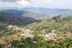 Doi MaeSalong, Chiangrai, Tajlandia, krajobrazowy widok Zdjęcie Royalty Free