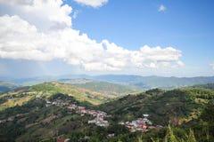 Doi MaeSalong, Chiangrai, Tajlandia, krajobrazowy widok Obrazy Royalty Free