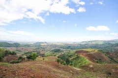 Doi MaeSalong, Chiangrai, Tajlandia, krajobrazowy widok Zdjęcia Royalty Free