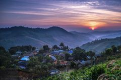 Doi Maesalong. Shoot from top of the mountain royalty free stock images