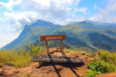 Doi Pha Tang in Wiang Kaen district,Chiang Rai,Thailand. Doi Pha Tang is a viewpoint on top of a high cliff over the Thai-Laotian border affording a delightful stock image