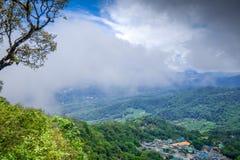 Doi Pui Mong hill village landscape, Chiang Mai, Thailand. Doi Pui Mong hill tribe village landscape, Chiang Mai, Thailand royalty free stock images