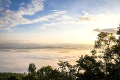 Doi Samer Dao berg i det Nan landskapet, Thailand Arkivbild