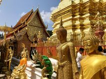 Doi Shuthep świątynia zdjęcia royalty free