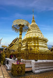 Doi Suthep with blue sky in Chiangmai Royalty Free Stock Image