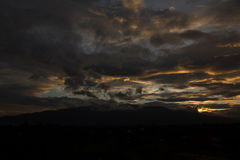 Doi Suthep Chiang Mai Sunset Photographie stock libre de droits