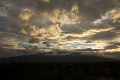 Doi Suthep Chiang Mai Sunset Images libres de droits