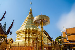Doi Suthep Chiangmai, δημοφιλής ναός σε Chiangmai στοκ εικόνες