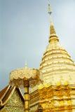 Doi Suthep Golden Stupa, Chiang Mail, Tailandia Fotografie Stock