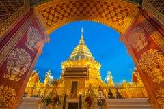 Doi Suthep pagoda w wczesnym poranku Obraz Stock