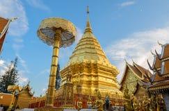 Doi Suthep tempel, gränsmärke av Chiang Mai, Thailand arkivfoton