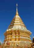 Doi Suthep temple. Main Stupa - Doi Suthep - Thailand Stock Image